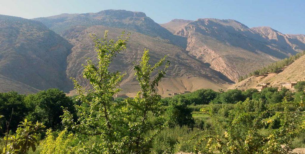 Une verte vallée dans le Haut Atlas