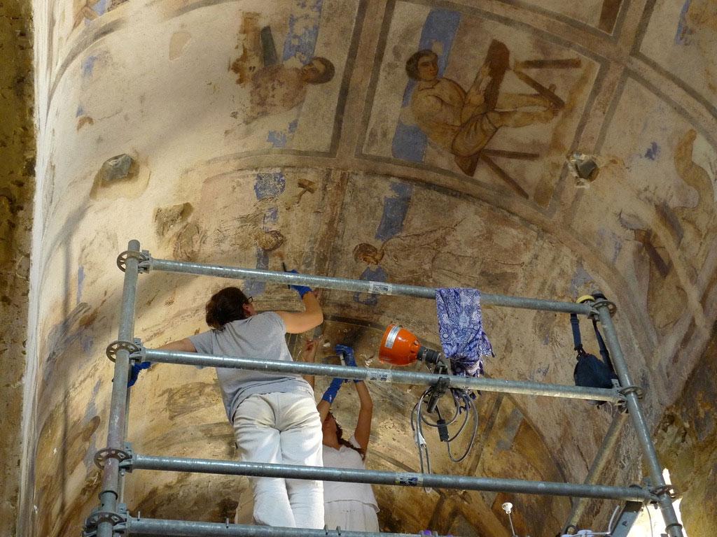 Restauration des fresques du Qsair Amra
